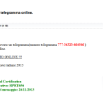 Truffa Poste Italiane: Servizio Telegrammi - Telegrammi Online