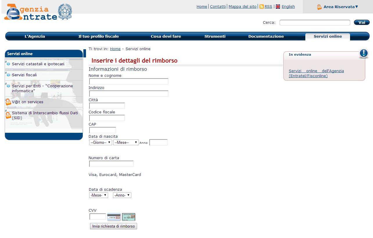 finto sito agenzia delle entrate