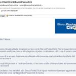 Truffa Avviso Clienti Conto Banco Posta click