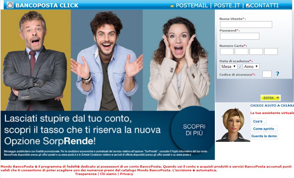banco posta click2