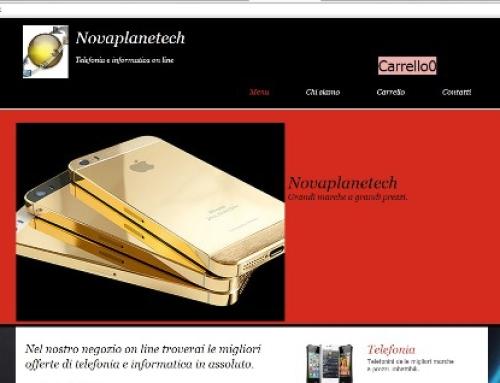 Truffa E-commerce www.novaplanetech.biz
